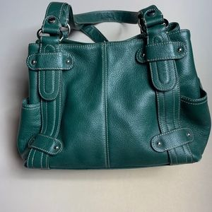 Dark Green Perfect 10 Tignanello Leather Bag
